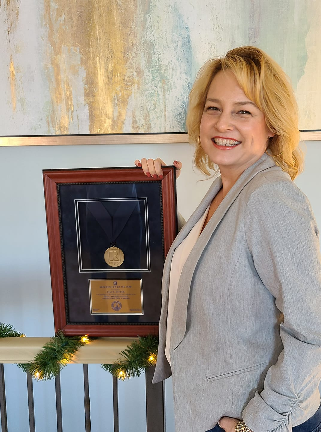 Lisa with plaque